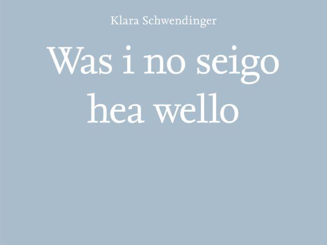 Wälderabend und Präsentation des Klara Schwendinger Buches